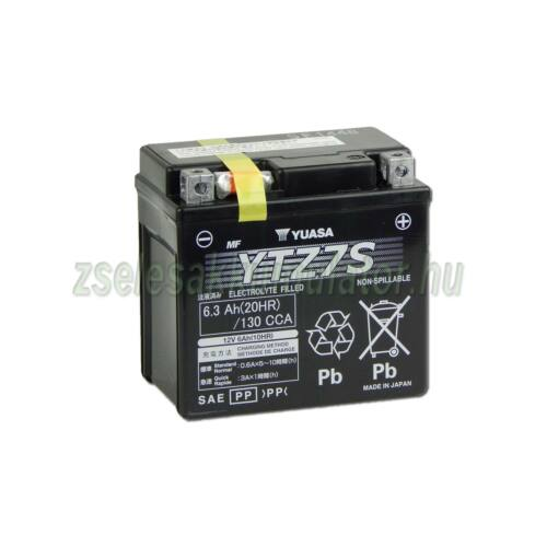 Yuasa YTZ7S 12V 6Ah gondozásmentes AGM (zselés) motor akkumulátor