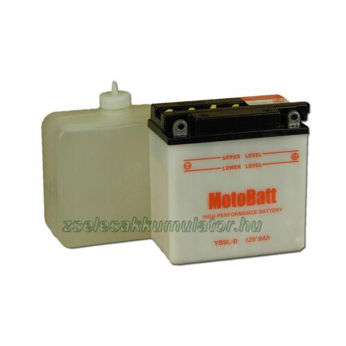MotoBatt YB9L-B (sav csomagos) 12V 9Ah Motor akkumulátor