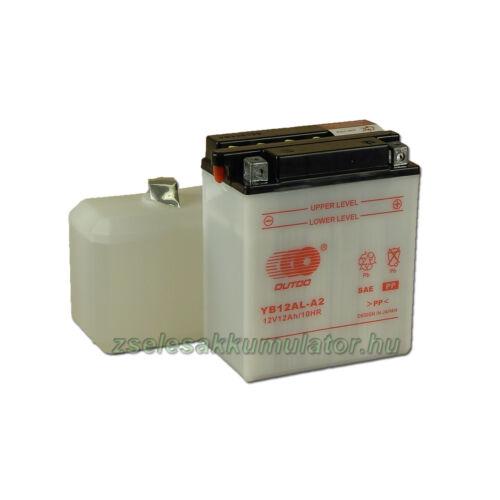OUTDO YB12AL-A2 (sav csomagos) 12V 12Ah Motor akkumulátor