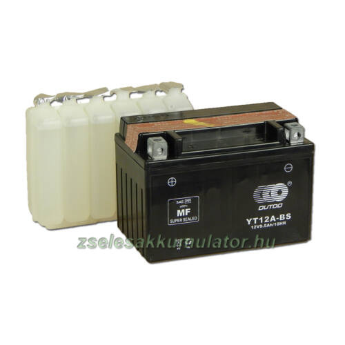 OUTDO YT12A-BS 12V 10Ah Motor akkumulátor