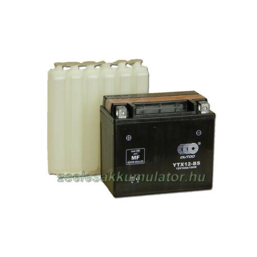 OUTDO YTX12-BS 12V 10Ah Motor akkumulátor