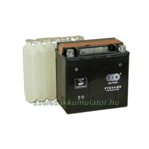 OUTDO YTX14-BS 12V 12Ah Motor akkumulátor