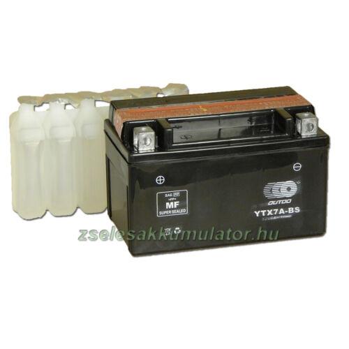 OUTDO YTX7A-BS 12V 6Ah Motor akkumulátor