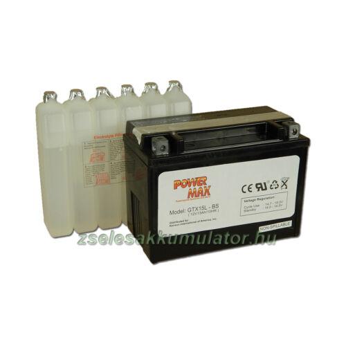Power Max GTX15L-BS 12V 13Ah Motor akkumulátor