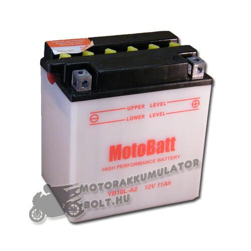 MotoBatt YB10L-A2 12V 11Ah Motor akkumulátor