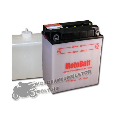 MotoBatt YB12A-A (sav csomagos) 12V 12Ah Motor akkumulátor