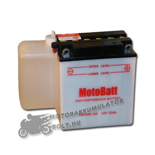 MotoBatt YB12AL-A2 (sav csomagos) 12V 12Ah Motor akkumulátor
