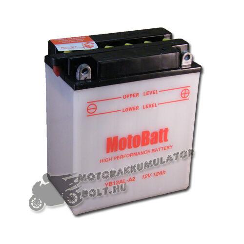 MotoBatt YB12B-B2 12V 12Ah Motor akkumulátor