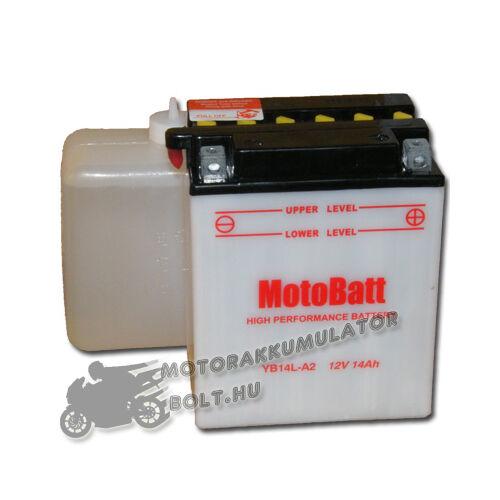 MotoBatt YB14L-A2 (sav csomagos) 12V 14Ah Motor akkumulátor