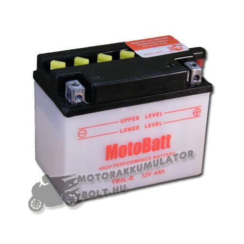 MotoBatt YB4L-B 12V 4Ah Motor akkumulátor (sav nélkül)