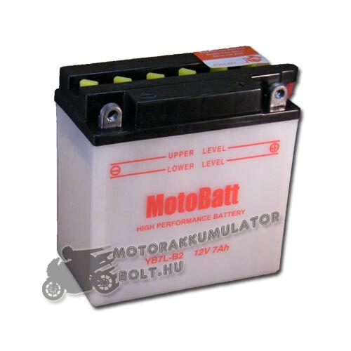 MotoBatt YB7L-B2 12V 8Ah Motor akkumulátor sav nélkül