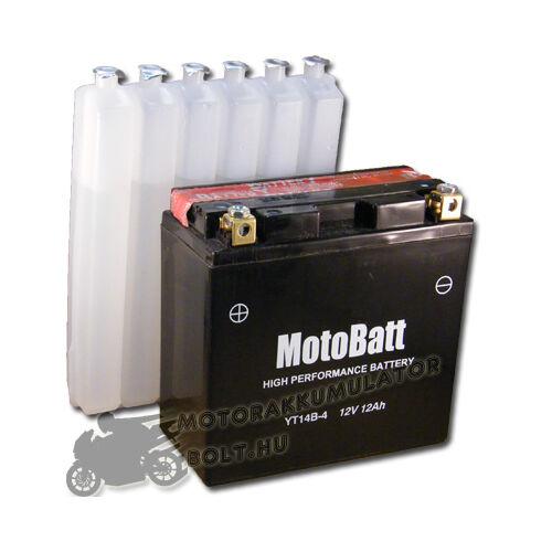 MotoBatt YT14B-4 12V 12Ah Motor akkumulátor