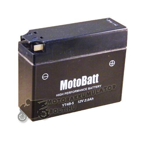 MotoBatt YT4B-BS 12V 2,3Ah Motor akkumulátor