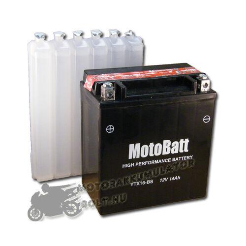 MotoBatt YTX16-BS 12V 14Ah Motor akkumulátor