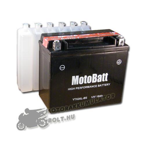 MotoBatt YTX20L-BS 12V 18Ah Motor akkumulátor