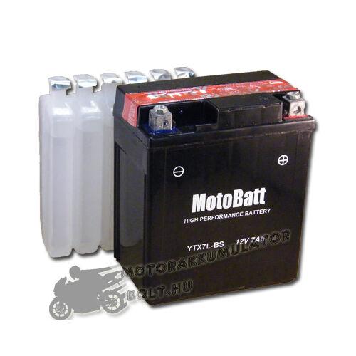 MotoBatt YTX7L-BS 12V 7Ah Motor akkumulátor