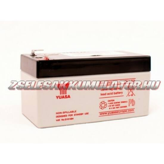 Yuasa 12V 1,2Ah Zselés akkumulátor