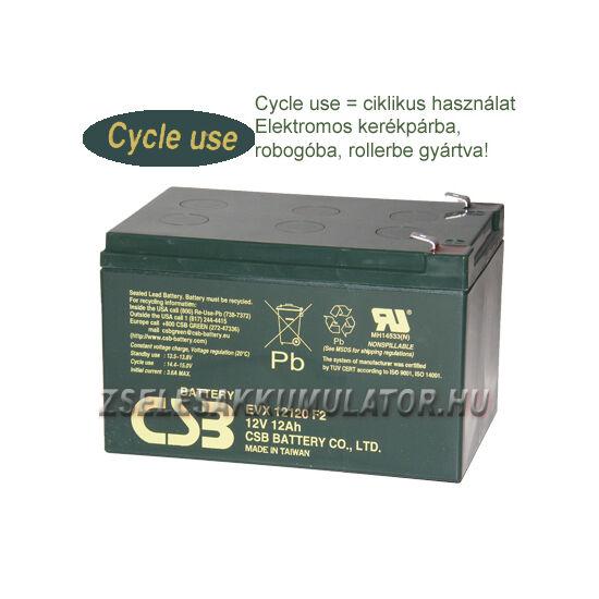 CSB 12V 12Ah Ciklikus zselés akkumulátor elektromos kerékpárba