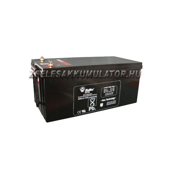 Diamec 12V 200Ah Zselés akkumulátor