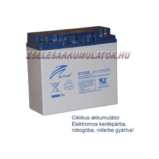 Ritar 12V 22Ah Ciklikus zselés akkumulátor elektromos kerékpárba