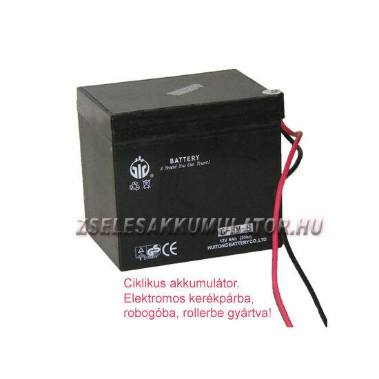 12V 8Ah ciklikus zselés akkumulátor elektromos kerékpárba