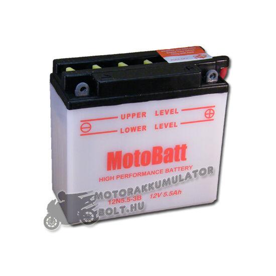 MotoBatt 12N5,5-3B 12V 5,5Ah Motor akkumulátor