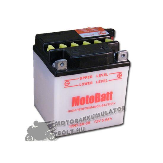 MotoBatt 12N5,5A-3B 12V 5,5Ah Motor akkumulátor