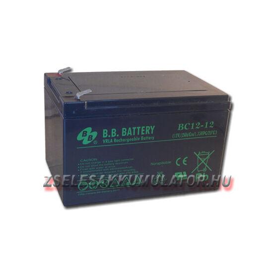 BB Battery 12V 12Ah Zselés akkumulátor