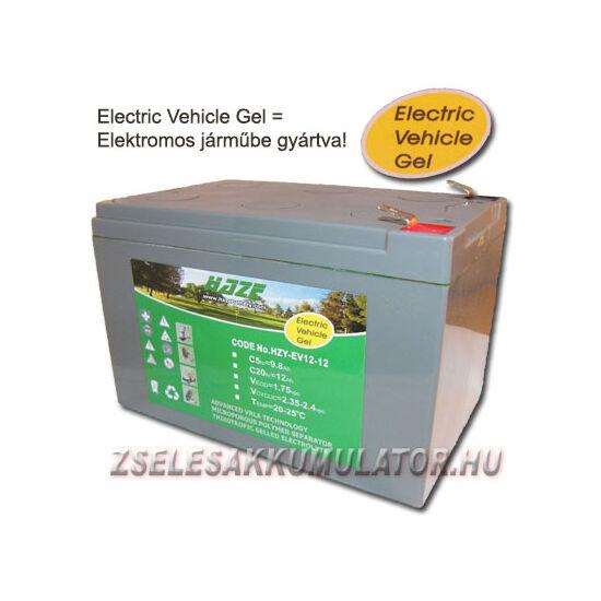 HAZE 12V 12Ah Ciklikus zselés akkumulátor elektromos kerékpárba