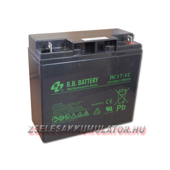 BB Battery 12V 17Ah Zselés akkumulátor