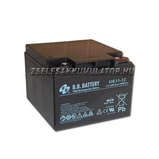 BB Battery 12V 33Ah  Zselés akkumulátor HR33-12