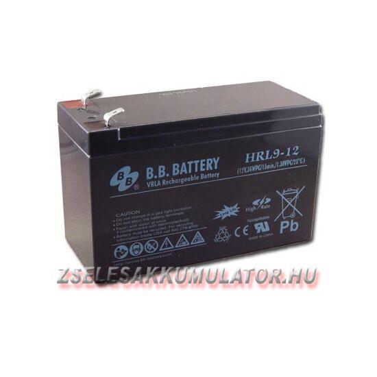 BB Battery 12V 9Ah Zselés akkumulátor BB-HRL9-12