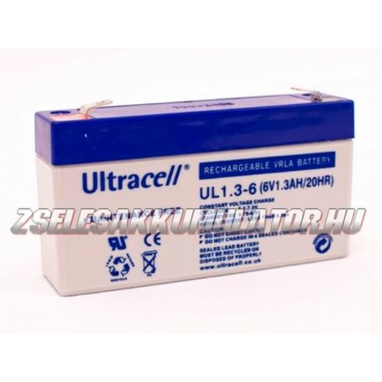 Ultracell 6V 1,3Ah Zselés akkumulátor