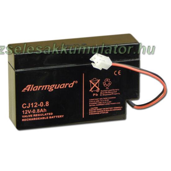 Alarmguard 12V 0,8Ah Zselés akkumulátor CJ 12-0,8