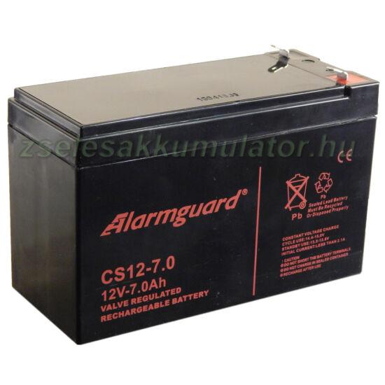 Alarmguard 12V 7Ah Zselés akkumulátor CS 12-7