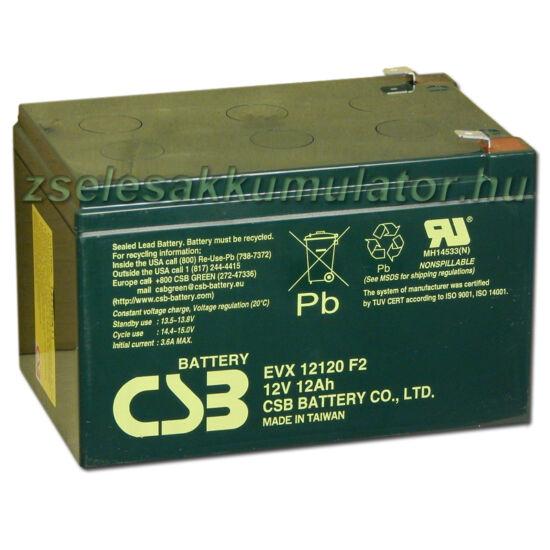 CSB 12V 12Ah Zselés Akkumulátor EVX12120 F2