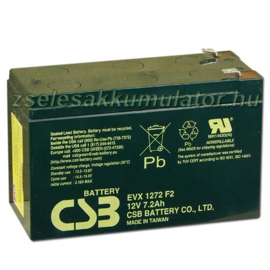 CSB 12V 7,2Ah Zselés Akkumulátor EVX1272 F2