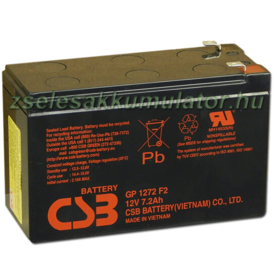 CSB 12V 7,2Ah Zselés Akkumulátor GP 1272 F2