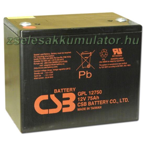 CSB 12V 75Ah Zselés Akkumulátor GPL 12750