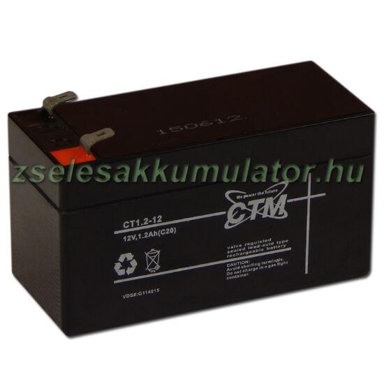 CTM 12V 1,2Ah Zselés akkumulátor CT1,2-12