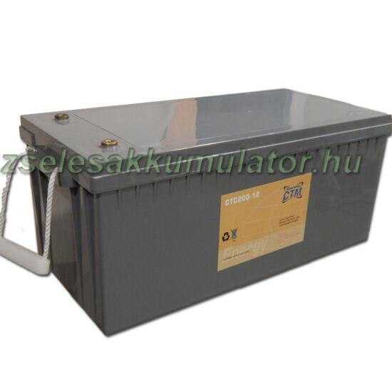 CTM 12V 200Ah Ciklikus zselés akkumulátor