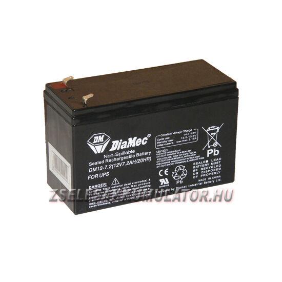 Diamec 12V 7Ah Zselés akkumulátor