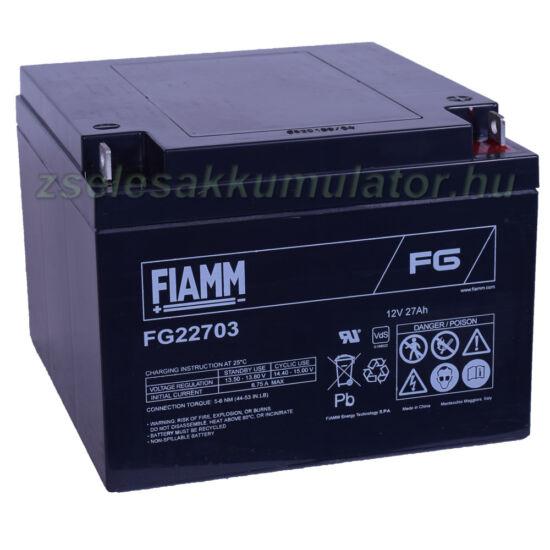 FIAMM 12V 27Ah Zselés akkumulátor FG22703