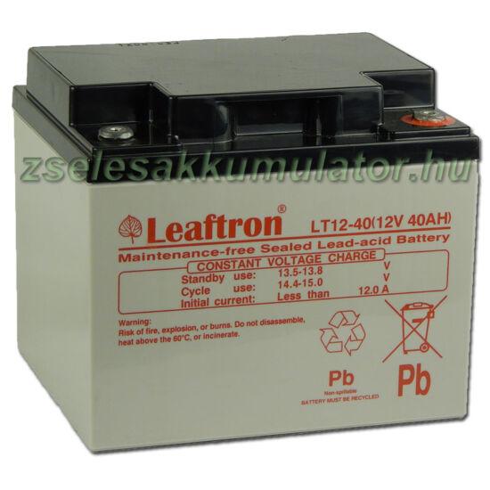Leaftron 12V 40Ah  Zselés akkumulátor LT12-40