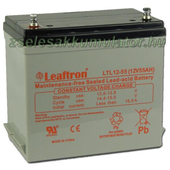 Leaftron 12V 55Ah Zselés akkumulátor LTL12-55