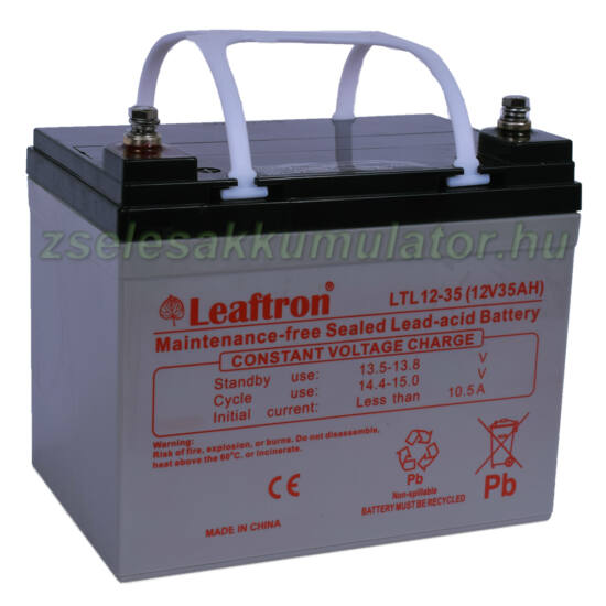 Leaftron 12V 35Ah Zselés akkumulátor LTL12-35