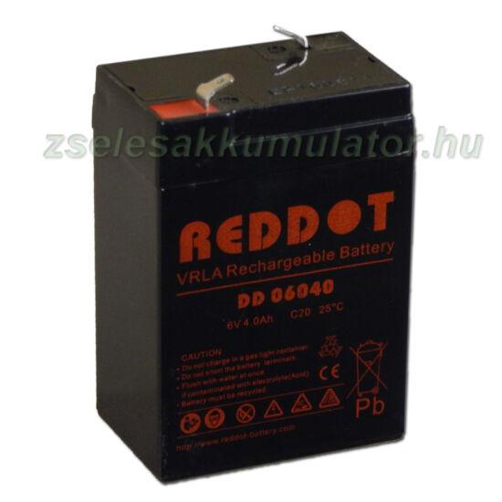 RedDot 6V 4Ah Zselés akkumulátor