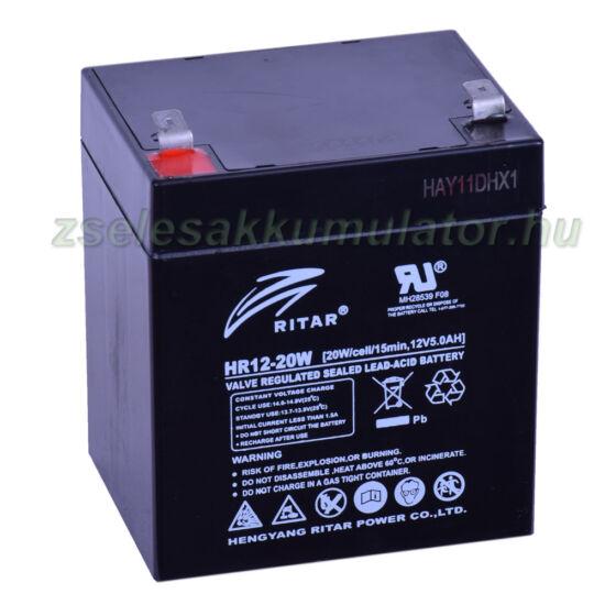 Ritar 12V 5Ah HR12-20W zselés akkumulátor