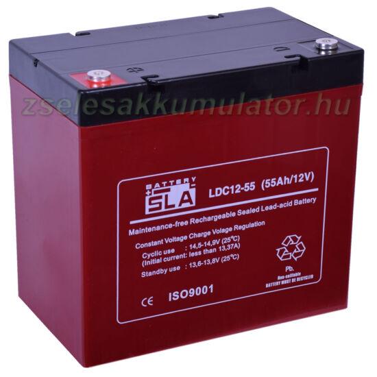 SLA LDC12-55 ciklikus zselés akkumulátor