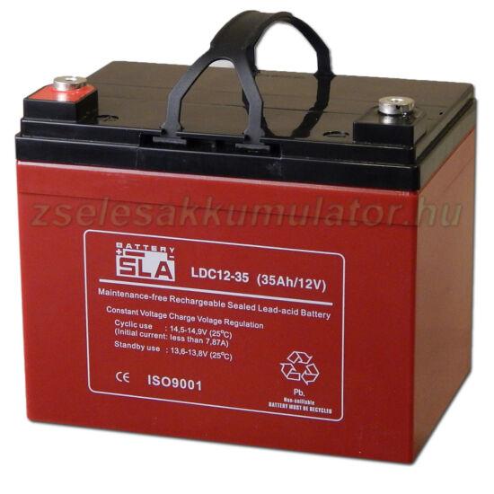 SLA LDC12-35 ciklikus zselés akkumulátor 12V 35Ah